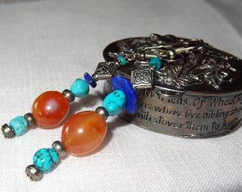 Nepalese carnelian earrings - holiday gift idea