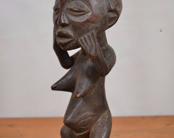 African tribal art,Luba statue from Democratic Republic Congo