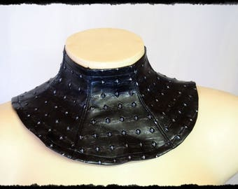 Cosplay Armour Look Faux Leather Collar - Ready to Ship - Neck Piece Warrior Viking Larp Costume
