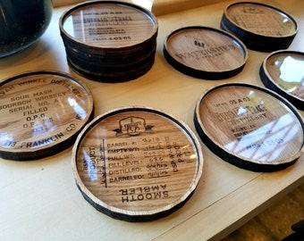 American Oak Bourbon Barrel Head Coasters