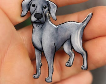 Weimaraner Magnet: great gift for Dog loversfor locker fridge or car