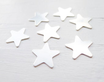Star Blanks Sterling Silver Star Charms (C19)