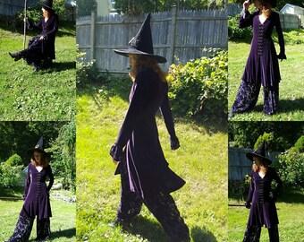 Wiccan Dress Velvet Dress w/ Palazzo Pants