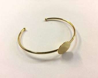 2 bracelets Bangle set 15mm for jewelry designs