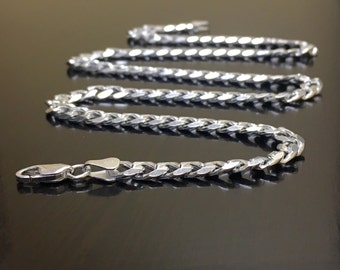Sterling Silver Cuban Link Necklace - Silver Link Necklace - Handmade Silver Necklace - Silver Modern Necklace - Sterling Necklace