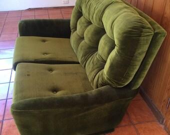 FLER Green Velvet Sofas