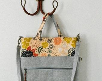 Megan Foldover Tote {PDF sewing pattern} instant download, sewing, sew, tote bag, bag, zipper pocket, sotak patterns, removable strap