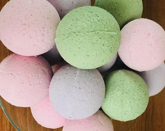 Two 4 oz Bath Fizzies , Two 4 oz Bath Bombs, Spa Fizzies, All Natural Bath Fizzies/Bombs