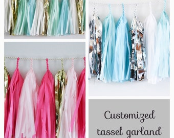 CUSTOM GARLAND // tassel garland // wedding and party decoration