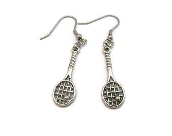 Tennis Racket Earrings Sports Earrings Sports Jewelry Tennis Racket Jewelry Team Gift Ideas Tennis Player Gift Racket Earring
