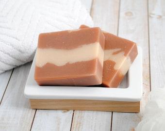 Homemade Soap - Almond & Honey Scented Goat Milk Soap - Honey Almond Goat's Milk Soap - Homemade Goat Milk Soap - Handmade Honey Almond Soap