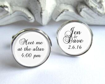 Wedding Cufflinks, Personalized Cufflinks, Gift For Groom