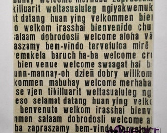 Welcome in Different Languages Plaque / Wall Hanging / Wall Decor