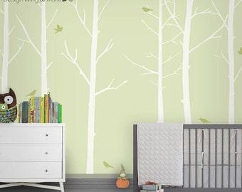Tree Decal Nursery - Baby Nursery Wall Decal - Woodland Nursery - Forest Wall Decal - LSWD-0031