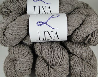 100% Alpaca yarn, natural rose grey