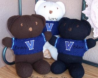 Bear, Villanova Wildcats Basketball, Basketball, Team Bear, Keepsake, Souvenir, Baby, Baby Shower, Birthday, Boy, Girl, Mother, Father, Teen