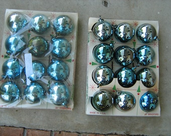24 bradford 1950s unbreakable christmas balls made in U.S.A.
