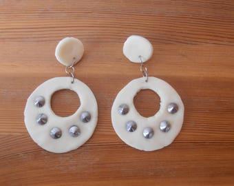 authentic 80's metal earrings