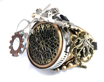 Steampunk Goggles Burning Man Sadon Pirate Monocle
