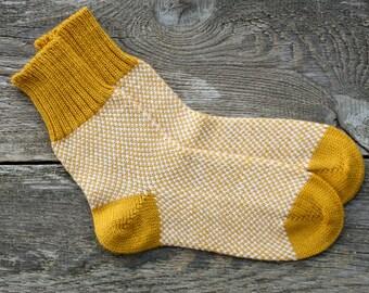 Alpaca wool socks alpaca socks hand knit socks yellow knit socks women winter socks men knit socks wool men socks wool women socks knit