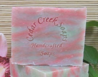 Sweet Green Tea Soap Green Tea Olive Oil Soap Cold Processed Soap Vegan Soap Fruit and Green Tea Scented