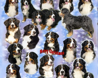 Bernese Mountain Dog Christmas Gift Wrapping Paper.
