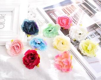 5cm Multi-Colored Bridal Rose Flower Hairpin Brooch Hair Clip 5cm DIY Headdress Hair Accessories