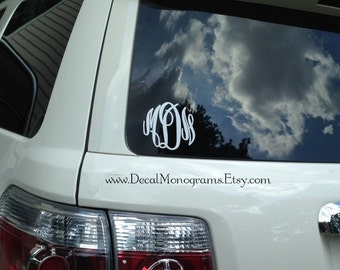 Monogram Vinyl Decal   (new fonts)