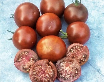 Carbon Tomato Heirloom Garden Seed 30+ seeds Naturally Grown Open Pollinated Gardening