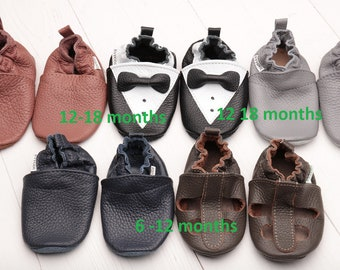HOT SALE! Baby shoes, Leather baby shoes, Soft sole baby shoes leather, Baby shoes girl, Baby shoes boy, Size 6-12, 12-18 - months
