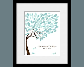 Wedding Tree Guestbook, Signature Tree Guestbook, Wedding Guest Signature Tree, Alternative Wedding Guest Book, 100 Leaves Signature Tree