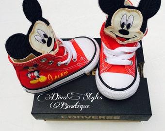 Mickey Converse, Mickey Mouse Baby Converse, Mickey Mouse Converse, Personalized Converse