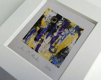 Small abstract paintings in acrylic. Original abstract acrylic painting.