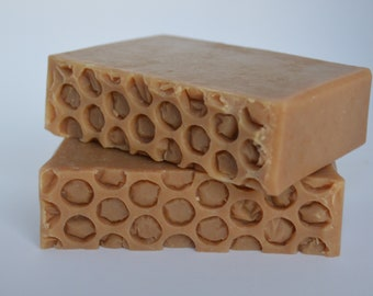 Handmade goat's milk honey and oatmeal soap, all natural soap, handcrafted soap, cold process soap