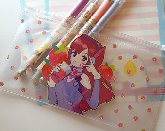 Strawberry D.Va Clear Pouch