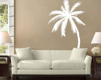 "Palm Tree Vinyl Wall Decal Sticker 72""h x 47""w"