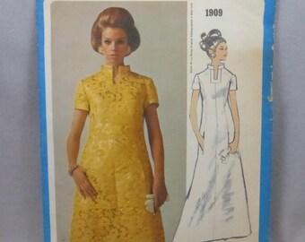 Vintage Vogue Americana 1909 Oscar de La Renta Evening Dress Misses Size 12