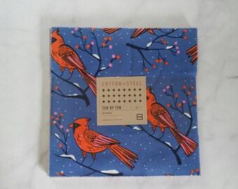 Cotton + Steel Frost - Ten by Ten Charm Pack - 10 × 10 Inches Square Bundle - Fabric Precut Bundle