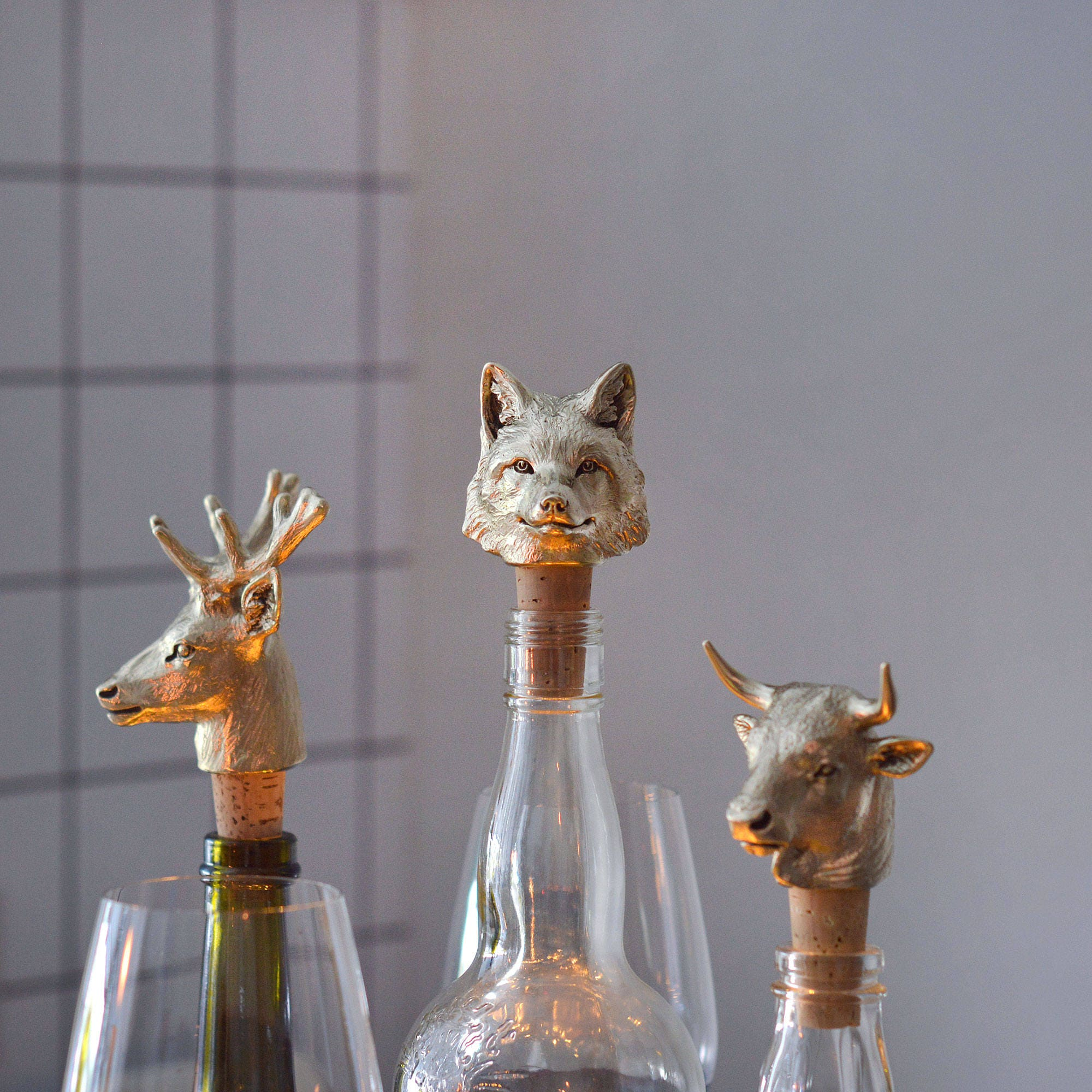 Fox. Bottle Stopper