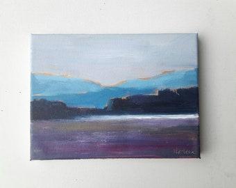 Original acrylic painting, landscape painting, acrylic landscape painting, original canvas painting, canvas original, lakeside painting