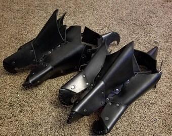 Leather DRAGON Feet - Armor Shoe Spats