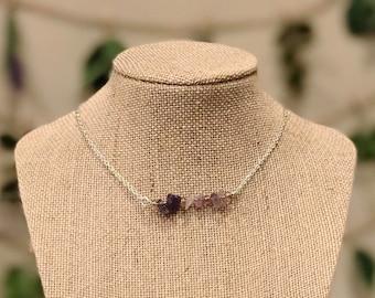 Amethyst Simple Bar Necklace