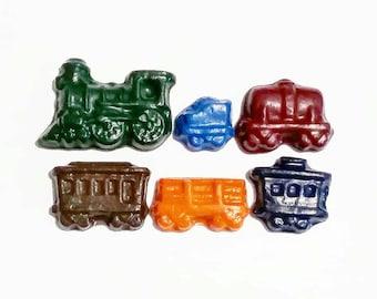 Train Crayons, Choo Choo Crayons, Train set, Custom Crayons, Train Party, Auto Crayons, Boys gift, Party Favors, Recycled Crayons, Gift