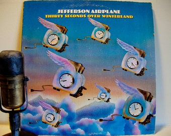 """Jefferson Airplane - """"Thirty Seconds Over Winterland"""" (1973 Grunt Records with """"Have You Seen the Saucers"""" & """"Crown of Creation"""") - Vintage"""