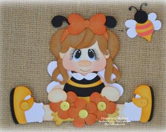 Honey Girl Premade Scrapbooking Embellishment Paper Piecing
