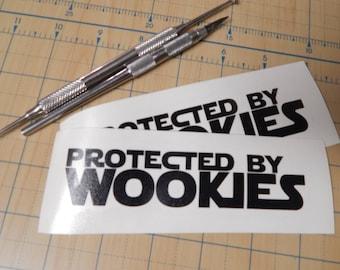 Protected by Wookies   Star wars wookie sticker