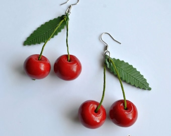 Cherries Earrings - Gifts for her