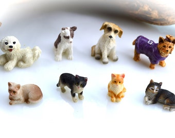 Miniature Cats or Dogs or other Animal choice ~ Fairy Garden Supplies ~ Miniature Garden Supplies