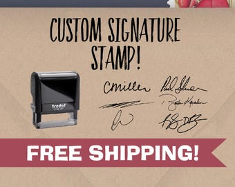 Custom Signature Stamp - Self Inking Signature Stamp - Signature Stamp with Name - Name Stamp - Stamp with My Signature