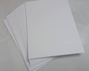 ATC / Artist Trading Card Blanks - 300gsm Quality White Card x100